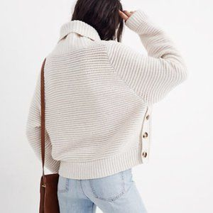 Madewell Side-Button Turtleneck Sweater